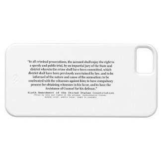 Sexta enmienda a la constitución de Estados Unidos iPhone 5 Case-Mate Protectores