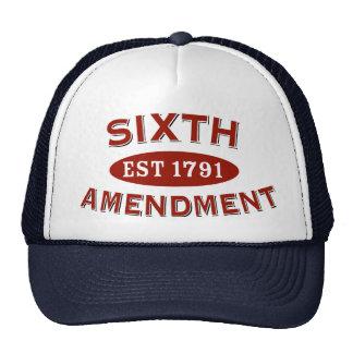 Sexta enmienda Est 1791 Gorras