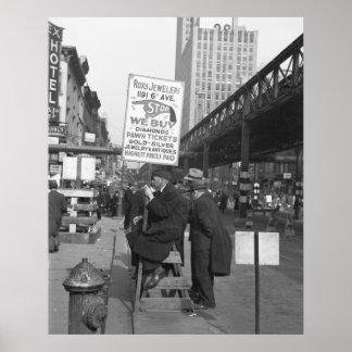 Sexta muestra Man, 1937 de la avenida Posters