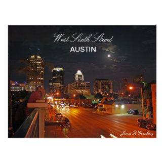 Sexta postal del oeste de Austin de la calle