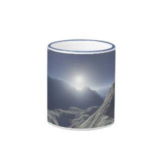 Sexta puesta del sol taza de dos colores