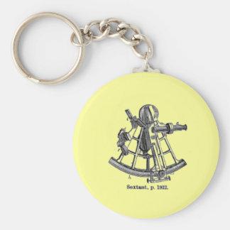 Sextant Basic Round Button Keychain