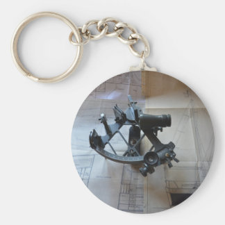 Sextant For Celestial Navigation Basic Round Button Keychain