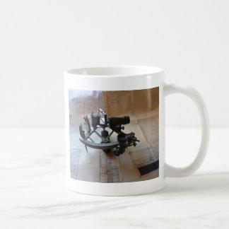 Sextante antiguo taza de café