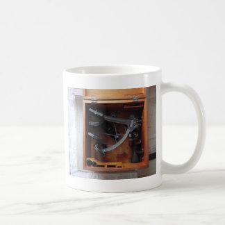 Sextante de la marina de guerra del vintage taza