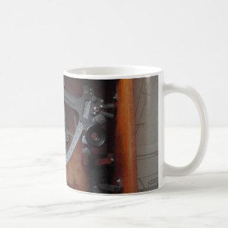 Sextante de la marina de guerra del vintage taza de café