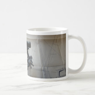 Sextante para la navegación celestial taza