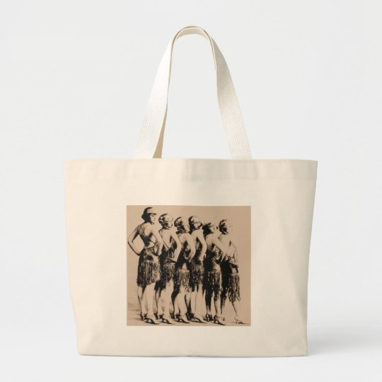 Sextet of Flappers Large Tote Bag