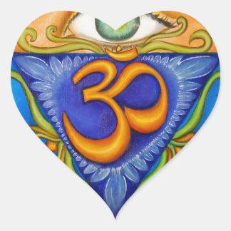 Sexto chakra, tercer ojo pegatina en forma de corazón