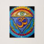 Sexto chakra, tercer ojo rompecabezas con fotos
