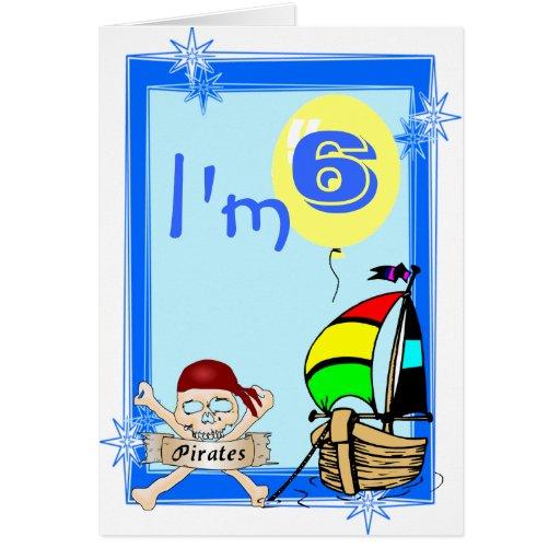 Sexto cumpleaños tarjeta de felicitación