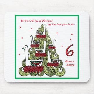 Sexto día de navidad mousepads