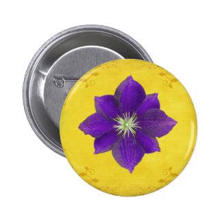 Sexto regalo de Chakra - tercer ojo Pin Redondo De 2 Pulgadas