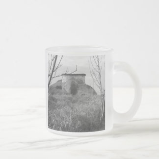 Sexton Burrow Lookout Tower. England 10 Oz Frosted Glass Coffee Mug