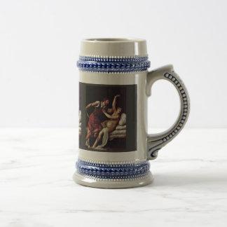 Sextus Tarquinius And Lucretia By Tizian 18 Oz Beer Stein