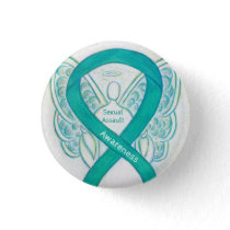Sexual Assault Awareness Angel Ribbon Pin