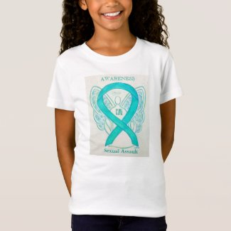Sexual Assault Teal Awareness Ribbon Angel Shirt
