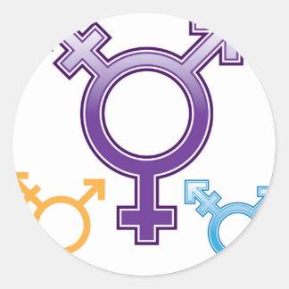 Sexuality Symbol Classic Round Sticker