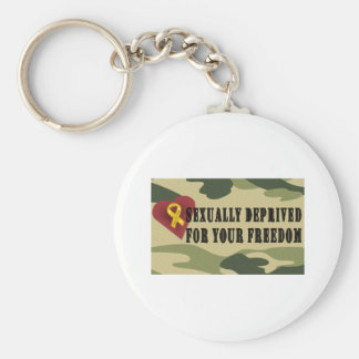 Sexually Deprived for Your Freedom Basic Round Button Keychain