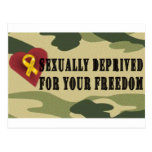 Sexually Deprived for Your Freedom Postcard