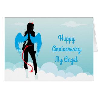 Sexy Angel Anniversary Card
