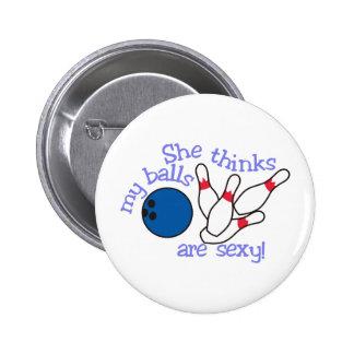 Sexy Balls 2 Inch Round Button