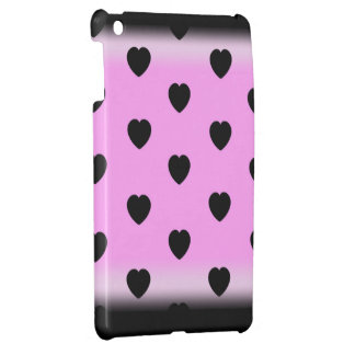 Sexy black hearts on pink iPad cover