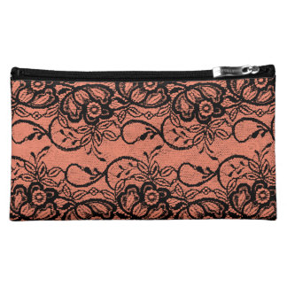Sexy Black Lace Custom Color Bachelorette Makeup Bag