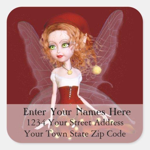 Sexy Christmas Elf Address Label Sticker