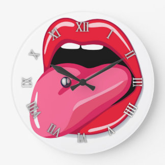 Sexy design mouth wall clock