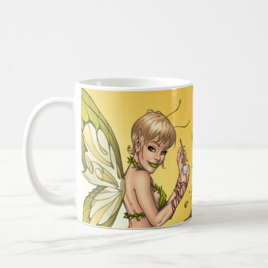 Sexy Elf Fairy Drinking by Al Rio Coffee Mug