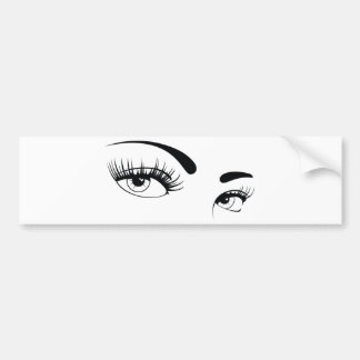 sexy-female-eyes-vector bumper sticker
