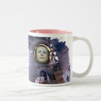Sexy Female Pilots Wear Aviation Fuel, rocket Two-Tone Coffee Mug