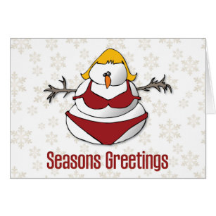 Sarcastic snowman cards greeting photo cards zazzle sexy female snowman funny seasons greetings card m4hsunfo