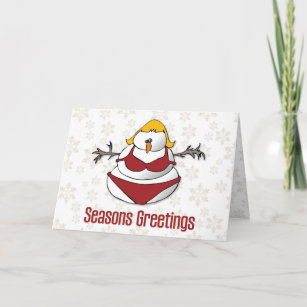 Sexy christmas cards greeting photo cards zazzle sexy female snowman funny seasons greetings holiday card m4hsunfo