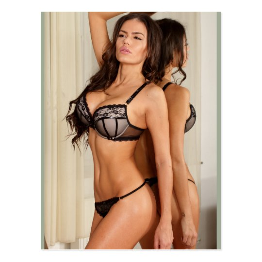 Fille Sexy Lingerie sexy fitness lingerie girl postcard | zazzle