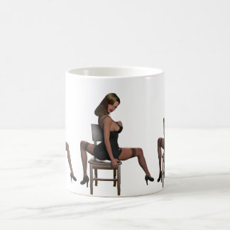 sexy girl in lingerie coffee mug
