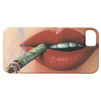 Sexy Girl Red Lip Stick Smoking iPhone 5/5s Case