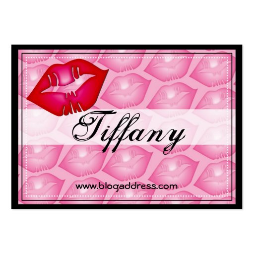 Sexy Kiss Profile Card Large Business Cards (Pack Of 100)