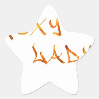 Sexy Lady Star Sticker