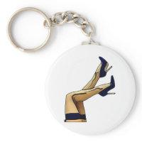 Sexy Legs Blue Stiletto Heels keychain