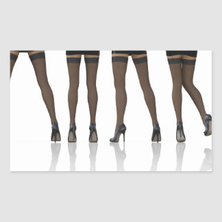 Sexy Legs with Stockings as Abstract Background Rectangular Sticker