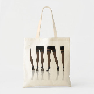 Sexy Legs with Stockings as Abstract Background Tote Bag