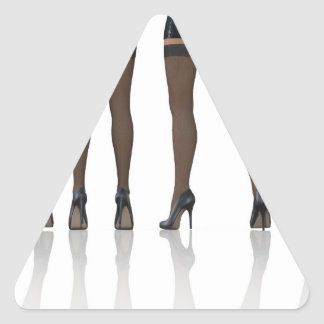 Sexy Legs with Stockings as Abstract Background Triangle Sticker