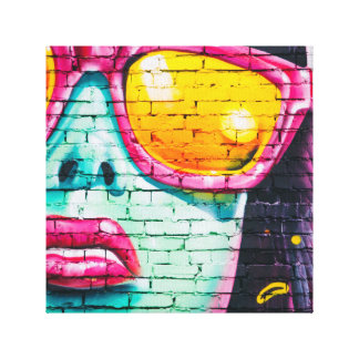 Sexy Lips Graffiti Art Canvas