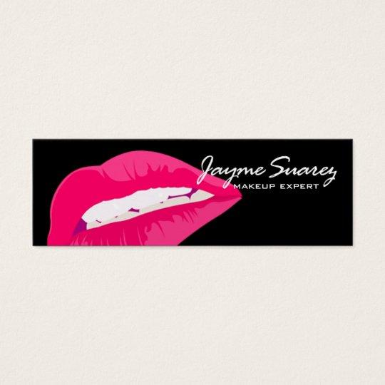 """Sexy Lips"" - Makeup Artist Cosmetics Expert Mini Business Card"