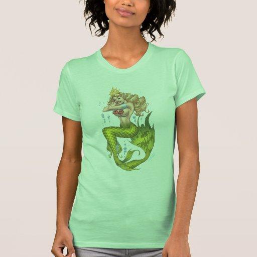 Sexy Mermaid in Green by the artist Al Rio Tshirt