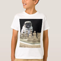 Sexy Misha pug playing chess with glasses T-Shirt