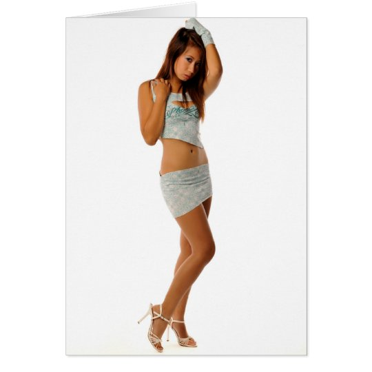 Sexy Model Fashion Pose Greeting Card