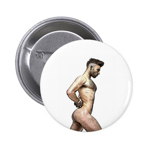 Sexy Nude Gay Male Unique Art 2 Inch Round Button